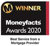 We won the UK Best Service From a Mortgage Provider award at the 2020 Moneyfacts awards